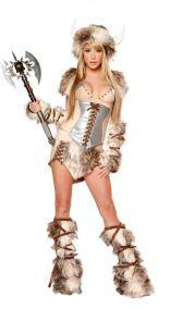 Карнавальный меховой костюм викинга