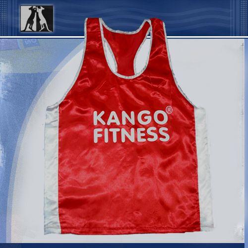 Майка боксерская, красно-белая, артикул 68310, размер XL, KANGO