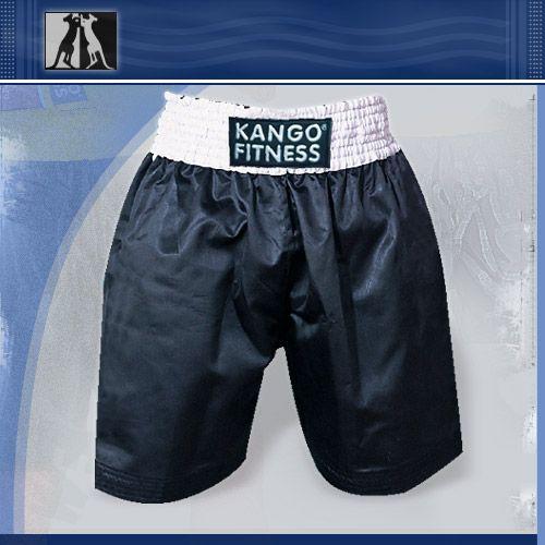 Шорты боксерские черно-белые, артикул 6903, размер S, KANGO