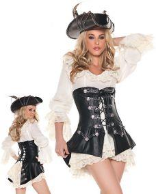 Костюм пиратки люкс