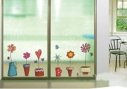 """Декоративные наклейки на стены и  окна """"цветы в горшках"""""""