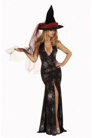 Длинное платье  ведьмы