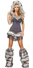 Меховое платье индейской девушки