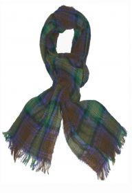 стильный шарф 100% шерсть, жатый эффект, тартан Isle of Skye - Айл оф Скай, плотность 2