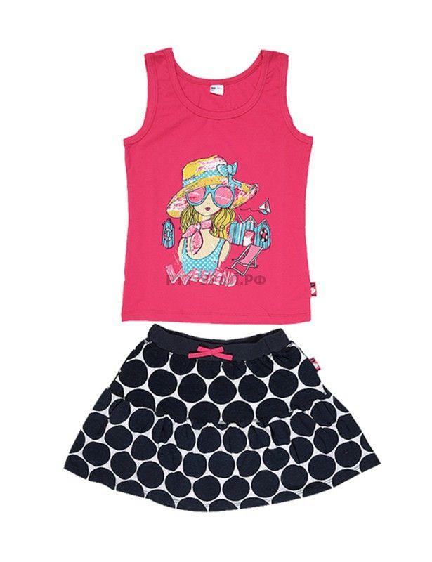 Комплект для девочки из майки и юбки