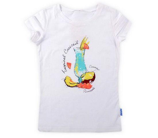 Блуза белого цвета для девочки Фужер
