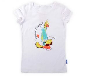 Блуза белого цвета для девочки Фужер К3480к59 Крокид
