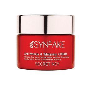 SECRET KEY SYN-AKE ANTI WRINKLE & WHITENING CREAM 50ml - омолаживающий осветляющий крем со змеиным ядом