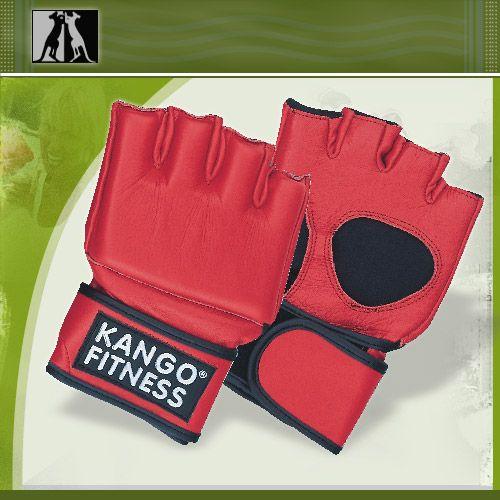 Перчатки для рукопашнего боя красные, нат. кожа, артикул 8204,, KANGO