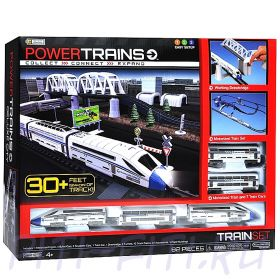 POWER TRAINS. Мега набор с 8 вагонами и домами
