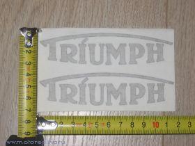 Наклейки Triumph на бак
