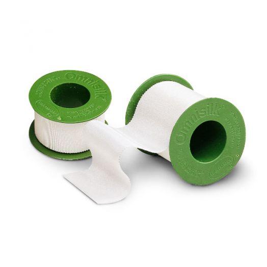 Omnisilk® / Омнисилк - фиксирующий пластырь из шелка /белый/: 5 м х 5 см