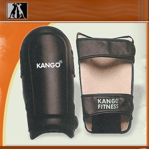 Щитки на голень черные, иск. кожа, артикул 8915, размер S, KANGO