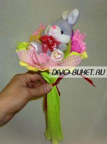 """Букет с игрушкой №006-1 """"Очаровашка"""""""