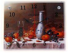 Часы настенные для кухни Стеклянные 22х27