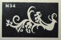 Трафареты для боди-арта, био-тату N34