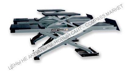 Подъемник ножничный для сход-развала, г/п 4500 кг., со встроенным подъемником второго уровня, KraftWell (КНР)