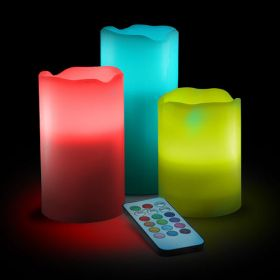 Набор светодиодных свечей с пультом. 16 цветов