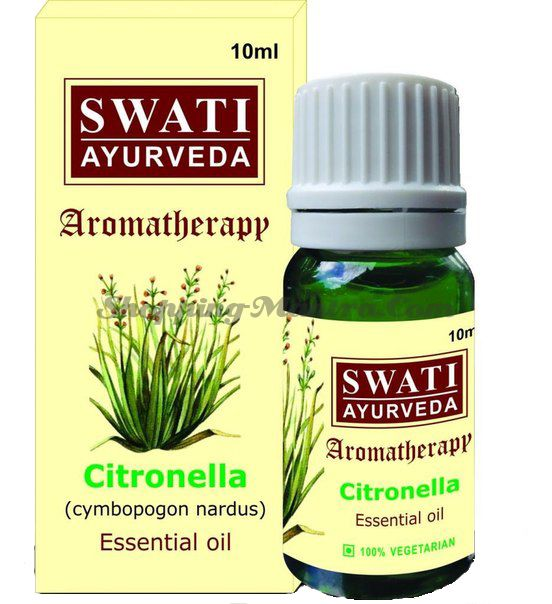 Эфирное масло Цитронелла Свати Аюрведа / Swati Ayurveda Citronella Essential Oil