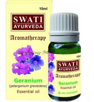 Натуральное эфирное масло Герань Свати Аюрведа (Swati Ayurveda Khadi Geranium Essential Oil)