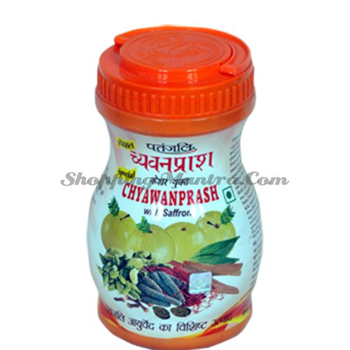 Чаванпраш с шафраном Патанджали Аюрведа (Divya Patanjali Saffron Chyawanprash)