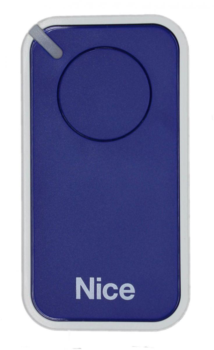 Пульт Nice INTI1B, динамический код, синего цвета.