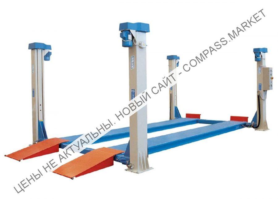 Подъемник четырехстоечный, г/п 12000 кг., платформы гладкие, OMCN (Италия)