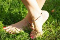 Серебряные браслеты на ногу