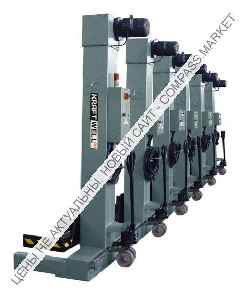 Колонны подкатные электромеханические, г/п 6х5500 кг, KraftWell (КНР)