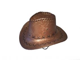 Детская ковбойская кожаная шляпа