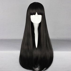 Длинный прямой парик готическая лолита