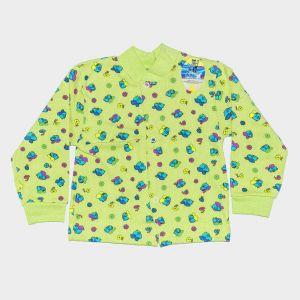 желтая с пчелками кофточка на кнопках для малыша