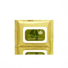 INNISFREE OLIVE REAL CLEANSING TISSUE 30шт - очищающие салфетки с экстрактом оливы