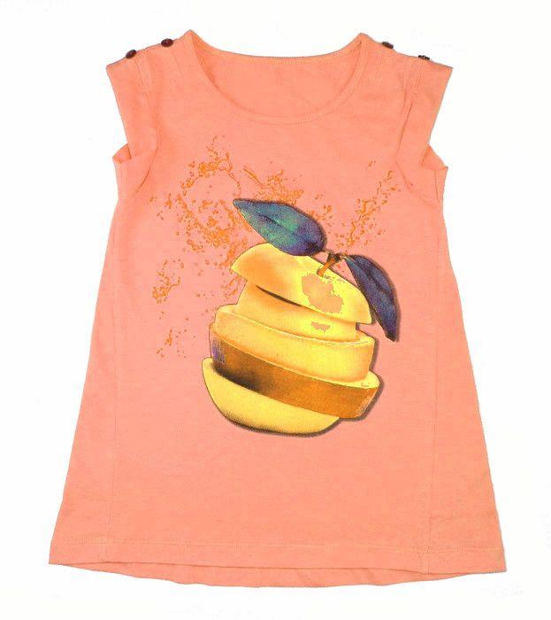 Оранжевая блуза для девочки