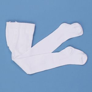 Белые колготки для девочки однотонные Крокид К 9002