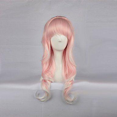 Парик с розовыми прядями Лолита