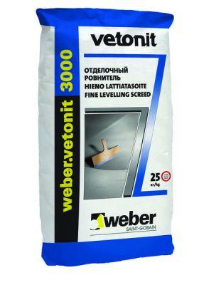 Weber Vetonit 3000 выравнивающая смесь для пола (0 - 5мм) (25 кг)