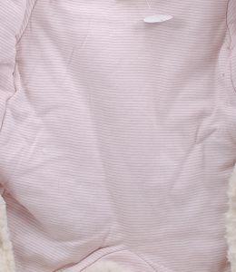 флисовый комбинезон для девочки светло-бежевого цвета