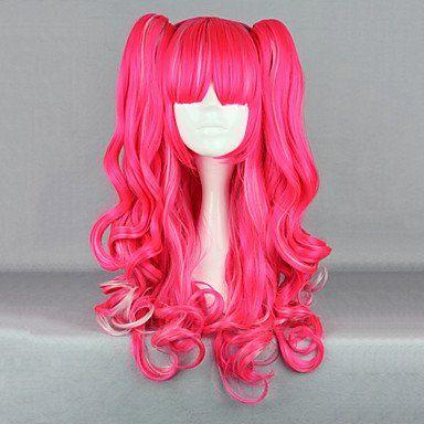 Парик ярко-розовая Лолита
