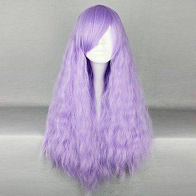 Парик светло-фиолетовый длинный
