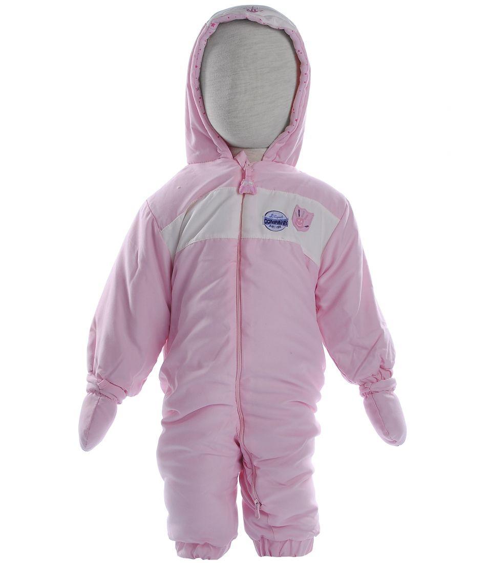 Комбинезон утепленный розовый для девочки
