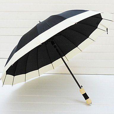 Зонт повседневный черно-белый