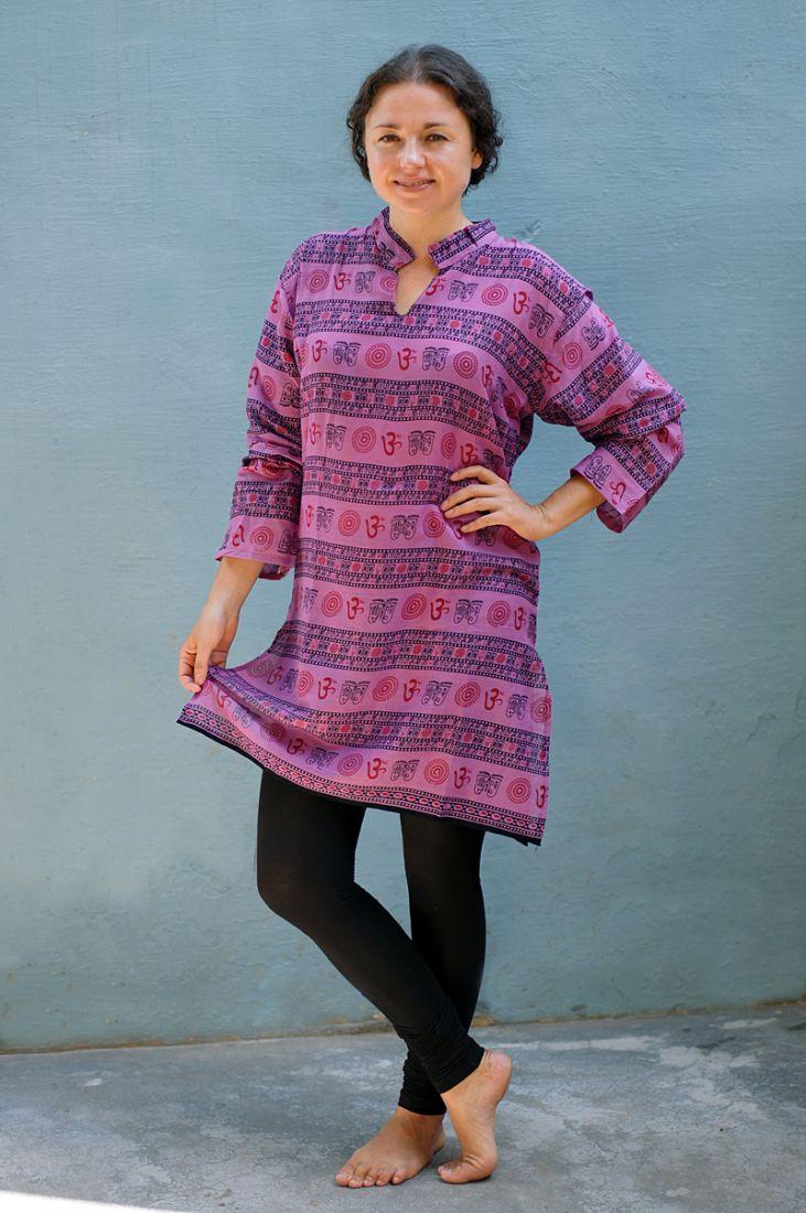 Унисекс! Индийские курты с омчиками, разные расцветки (отправка из Индии)