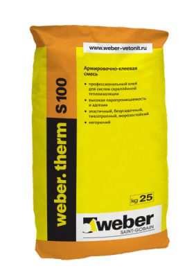 Weber THERM S100. Клей для теплоизоляции (25кг)