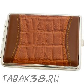 Портсигар S.Quire 3077 кожа коричневый