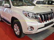 Хромированные накладки на передние противотуманные фары для Toyota Land Cruiser Prado 150 2013
