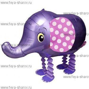 Шар-ходячка Слоник фиолетовый (64 см)