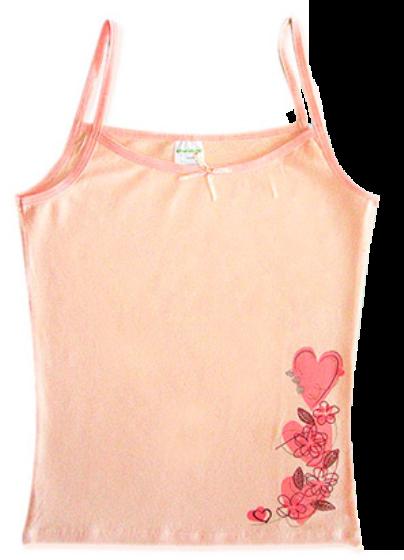 Майка для девочки светло-персиковая