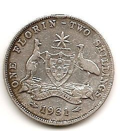 1 флорин Австралия  1931 Распродажа!