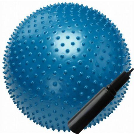 Гимнастический мяч массажный с насосом 65 см.